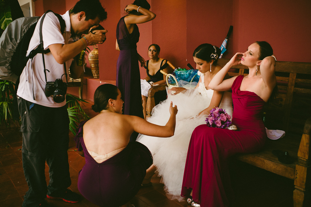colourful wedding in xcaret mexico